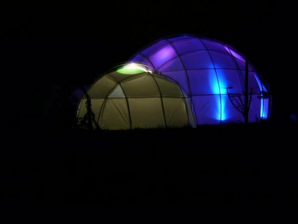bubble night blue green