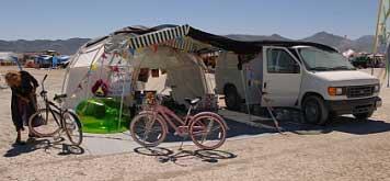 burning man yurt dome