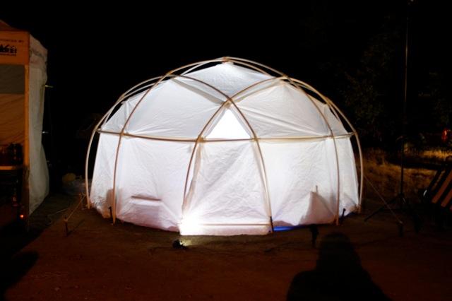 climbing yurt