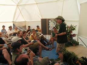 hi yurt inside dome
