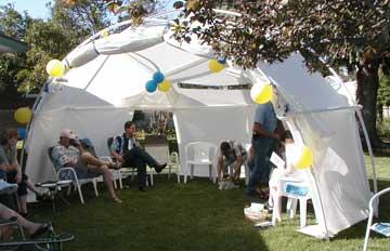 salmon yurt dome 4