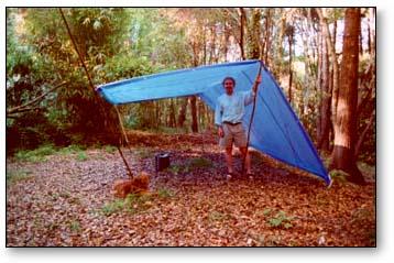 Four pole tarp tent