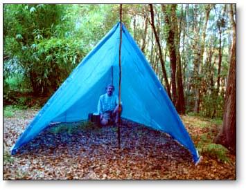 Two pole tarp tent