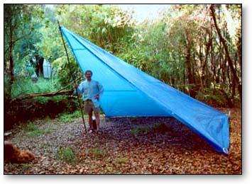 One pole tarp tent