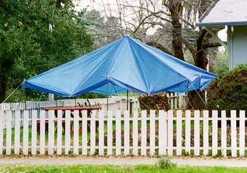pole clip shelter